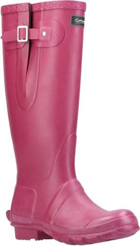 Cotswold Windsor Welly Plain Rubber Wellingtons Berry
